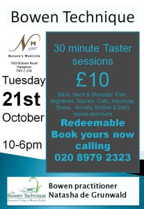 poster for Bowen A4 taster sessions